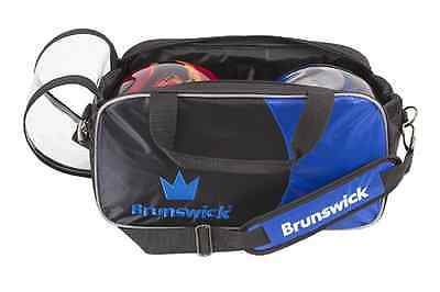 Brunswick Crown 2 Ball Tote Bowling Bag Black/Blue New