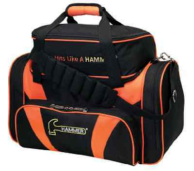 Hammer 2 Ball Deluxe Tote Bowling Bag w/shoe pocket Orange