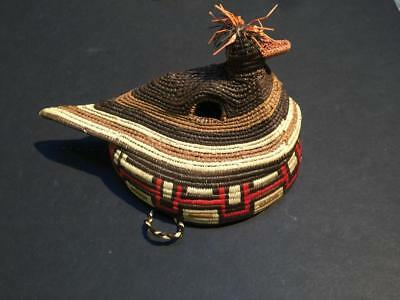 Southwestern Native American Papago Basket Weave Duck Mask