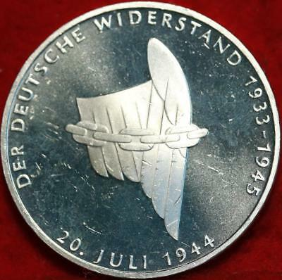 Uncirculated 1994 Germany 10 Mark Silver Foreign Coin Free S/H