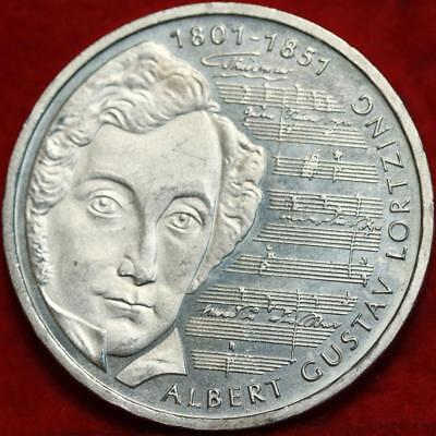 Uncirculated 2001-J Germany 10 Mark Foreign Silver Coin Free S/H