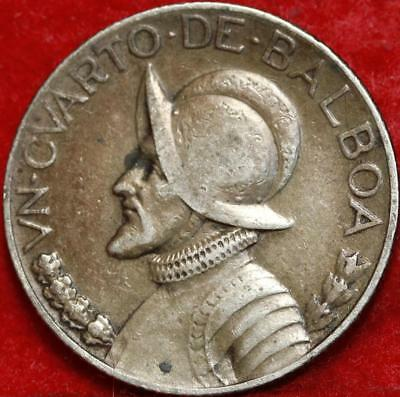 1931 Panama 1/4  Balboa Silver Foreign Coin Free S/H