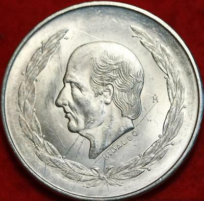 Uncirculated 1953 Mexico 5 Pesos Silver Foreign Coin Free S/H!
