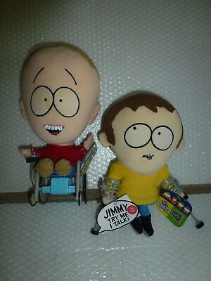 sOUTH PARK TIMMY & JIMMY PRE-OWNED W/ TAGS TALKING CARTOON ANIMATED PLUSH TOYS