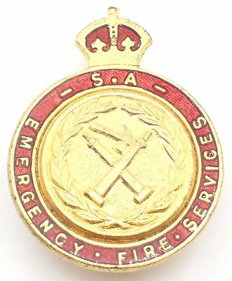 South Australia Emergency Fire Services Enamel Badge by Stokes & Sons #1377
