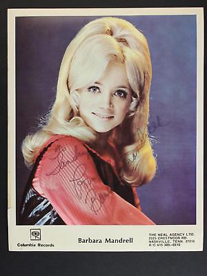 COUNTRY MUSIC BARBARA MANDRELL AUTOGRAPH 8 x 10 PHOTO~