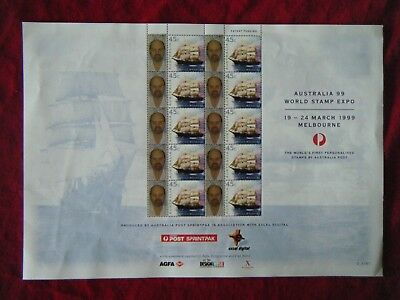 1999 Australia The World's First Personalised Stamps Sheet of 10  RARE