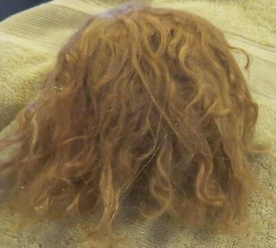 """w31 Vintage 10"""" Mohair Wig for Antique French or German Bisque Doll"""