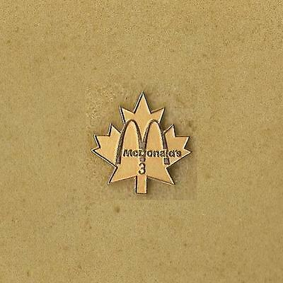 Mcdonalds Canada 3 Years Of Work Gold Special Pin With Necklace On The Back