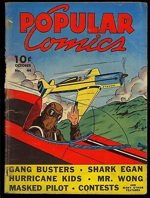 Popular Comics #44 Unrestored Early Golden Age Dell Comic 1939 GD-
