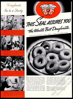 1937 Donut donuts part photo Doughnut Corporation of America vintage print ad
