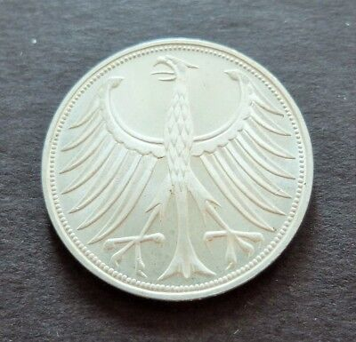 1974 Silver Germany 5 Marks Coin, Excellent Condition, Lot#898