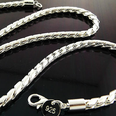 Fsa906 Genuine Real 925 Sterling Silver S/f Mens Ladies Chain Necklace Chain