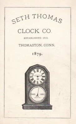 Seth Thomas Clock Co., 1879 Catalog reprint