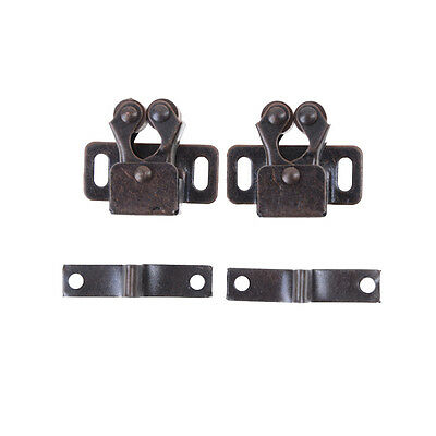 2PCS Security Cabinet Door Drawer Magnetic Catch Chrom Copper Pop