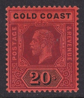 GOLD COAST : 1913 KGV 20/- Top Value Die I wmk Multiple Crown CA