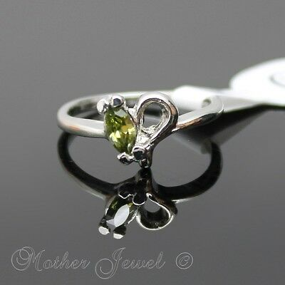 Gorgeous August Birthstone Cz Silver Sp Ladies Girls Dress Ring Size 5 J Sml
