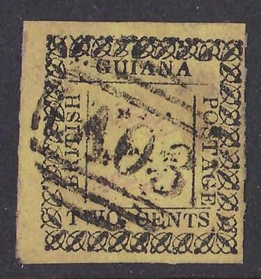 British Guiana : 1862 Type set 2c Signed Provisional