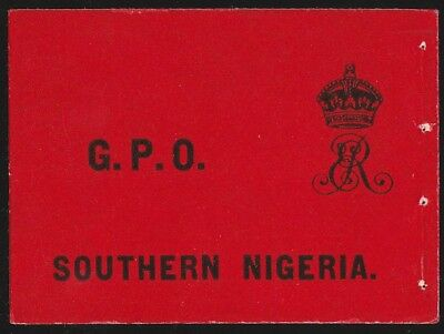 Southern Nigeria : 1904 Booklet front cover . complete bklt  cat £2000.