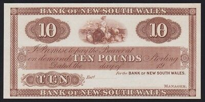 NEW ZEALAND Bank of New South Wales £10 19--, (ca 1924) proof. UNC. P-S164