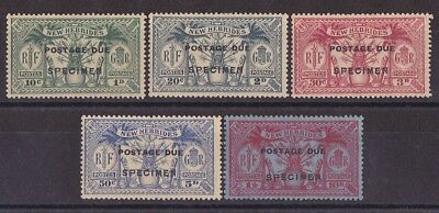 NEW HEBRIDES 1925 Postage Due Weapons & Idols set ½d to 5/- SPECIMEN