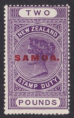 SAMOA 1914 QV Stamp Duty £2 RARE HIGH VALUE!
