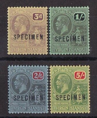 BRITISH VIRGIN ISLANDS 1922 KGV Badge set 3d to 5/- SPECIMEN