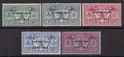 NEW HEBRIDES - FRENCH 1925 Postage Due Weapons & Idols set SPECIMEN