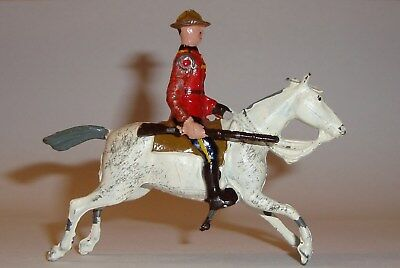 Vintage Britains Toy Soldier RCMP Royal Canadian Mounted Police Arm w Rifle Move