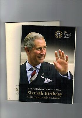 2008 - £5 / Five Pounds Coin - Queen Elizabeth II - Prince Charles 60th Birthday