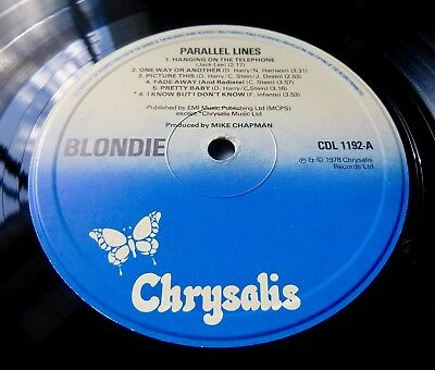 BLONDIE Parallel Lines 1978 UK CHRYSALIS 1st PRESS w/LYRIC INNER - NEAR MINT