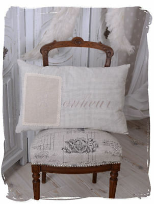 Vintage Cushion Country House Style Decorative incl. Filling Lace & Monogram
