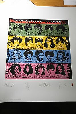 The ROLLING STONES Some Girls Album Art Print Official S/N Edition #3133/5000