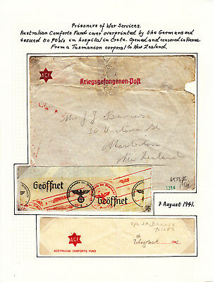 Australia related. P.O.W.  Cover from Aus.Corporal in German Camp to Newzealand