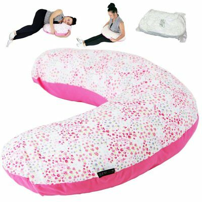 iSafe Maternity Pillow Bed Of Roses + Vacuum Storage Bag + Pillow Case