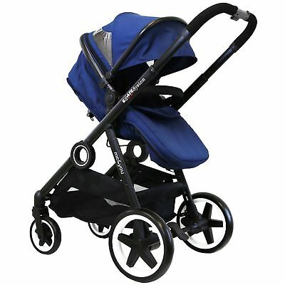 iSafe Tandem Pram me&you  Single Seat - Royal Blue + Bag + Footmuff + Rain Cover