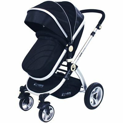 iSafe Baby Pram System 2 in 1 Complete - Black