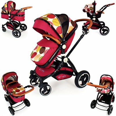 SALE!!! iSafe Baby Stroller Pram 3 in 1 - C&M Design (Complete With Car Seat)
