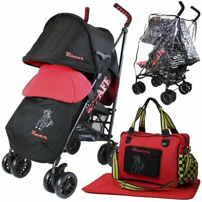 iSafe buggy Stroller Pushchair - Racer (Complete With Footmuff, Changing Bag, Bu