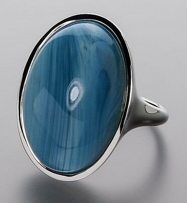 Ö.7090 Ring 925er Silber rhodiniert Swedish Blue 14,4ct RW18