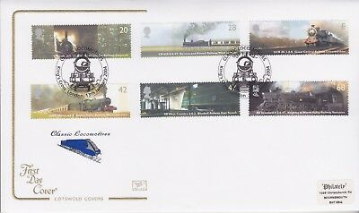 Gb Stamps First Day Cover 2004 Railway Trains Kings Cross Cotswold Collection