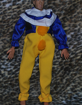 """Clown Outfit for 1/6 scale 12"""" action figure man.Hot Toys Dragon IT Stephen King"""