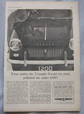 1963 Triumph Herald Original advert No.1