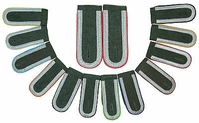 German Army UNTEROFFIZIER NCO Shoulder Boards - PIPING COLOUR OPTION - WW2 Repro