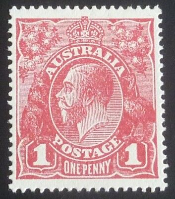 KGV 1d Red Large Multiple Wmk Mint SG 50 ACSC 74