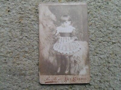First Ad,small Victorian Photograph.of Little Girl.by W.e.rimmer Of Royton.