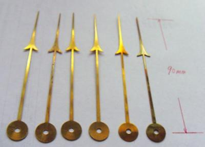 Selection of  old stock unused thin brass barometer/ clock  hands (6 off)