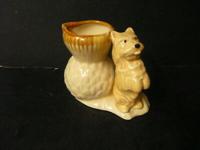 Hornsea Pottery Terrier And Pot  .  Old Impressed Mark