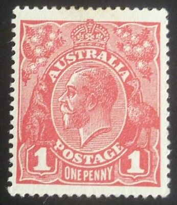 KGV 1d Red Single Crown Wmk Mint Die 3 SG 53 ACSC 75