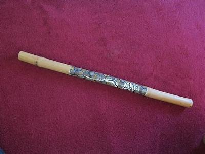 [ ETHNIC MUSICAL INSTRUMENT Aboriginal Bamboo Didgeridoo Hand Painted 120cm